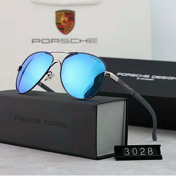 Porsche Couples with color film polarizing sunglasses Blue I-A-SDYJ