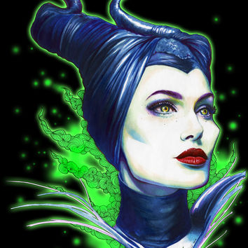 Maleficent Art Print by Marziiporn