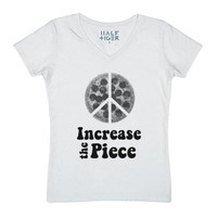 Increase the Piece Tee-Unisex White T-Shirt