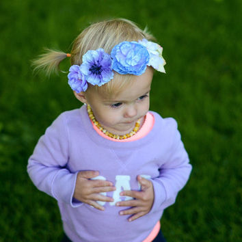 Lavender Flower Crown, Woodland Crown, Toddler Flower Crown, Baby Flower Crown