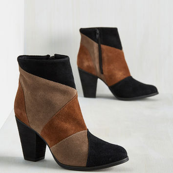 Patchwork It Harder Bootie | Mod Retro Vintage Boots | ModCloth.com