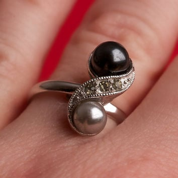 Vintage Ring Sarah Coventry Faux Pearl by TwiceBakedVintage