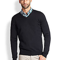 Saks Fifth Avenue Collection - Merino Wool V-Neck Sweater - Saks Fifth Avenue Mobile