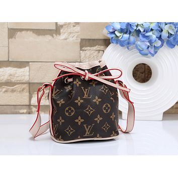 Louis Vuitton LV new women's classic old flower bucket bag shoulder diagonal female bag