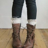 Dainty Boot Cuff - Ivory