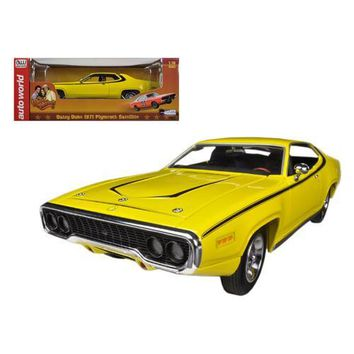 "1971 Plymouth Satellite Yellow ""Dukes Of Hazzard"" Limited to 2000pc 1/18 Diecast Model Car by Autoworld"