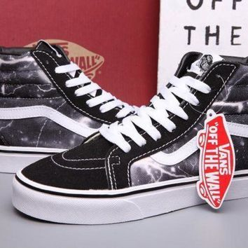 CREYONS VANS SK8-Hi lightning Print Flats Ankle Boots Sneakers Sport Shoes