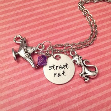 Street Rat Necklace - Fairytale Jewelry - Once Upon A Time Jewelry - Princess Jewelry - Aladdin Inspired Jewelry