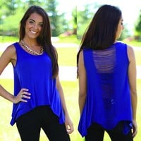 Girls Night Out Top in Royal Blue