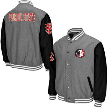 Florida State Seminoles Class Letterman Jacket – Gray