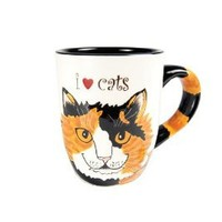 Amazon.com: Pavilion Rescue Me Now Calico Cat Mug, Sunshine, 12-Ounce, 4-1/4-Inch: Kitchen & Dining