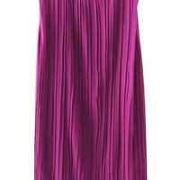 Purple Sleeveless Ruffled Dress
