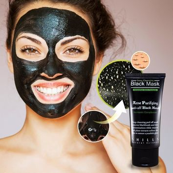 blackhead remover mask purifying black peel off charcoal mask free gift necklace  number 1