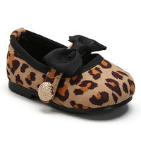 Tan Leopard Bow Mary Jane | zulily