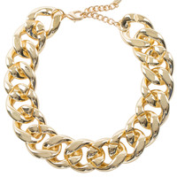 Misfit Chain Necklace Set - Gold