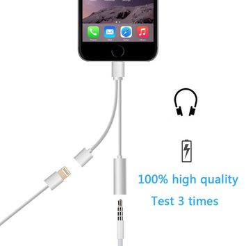 2in1 lightning to 3.5 mm Headphone Jack Adapter Charge Cable For 8pin iPhone 6 6s 7/ 6 6s 7plus