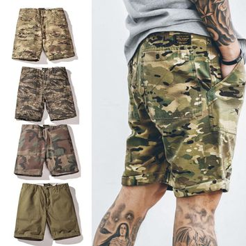 2017 Hot Sale new arrive men summer fashion camouflage Cargo shorts Knee Length casual shorts hip hop high street clothes