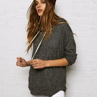 AEO Soft & Sexy Plush Hoodie, Tar Ash | American Eagle Outfitters