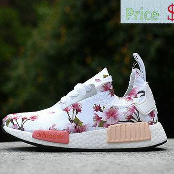 Really Cheap WMNS Adidas original NMD Runner Floral Aunt Pearl White shoe