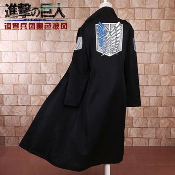 Cool Attack on Titan Cosplay Anime  Levi Rivaille Jacket Cloak Adult Halloween Carnival Cosplay Costume  cape M-2XL AT_90_11