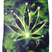 Weed Constellation Fleece Blanket