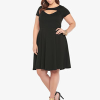 Front Keyhole Skater Dress
