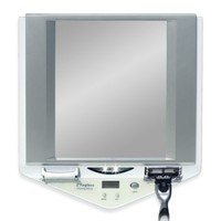 Z' Fogless™ LED Lighted Fog-Free Shower Mirror with LCD Clock