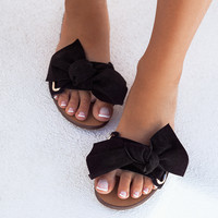 Palais Bow Slide - Black - Shoes by Sabo Skirt