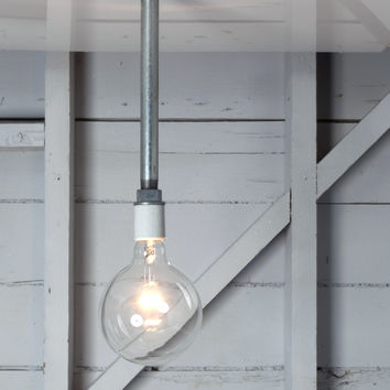 Pendant Pipe Light - Bare Bulb Lamp