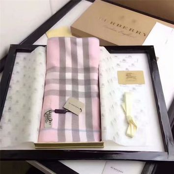 Burberry Keep Warm Scarf Embroidery Scarves Winter Wool Shawl Lattice Style 3