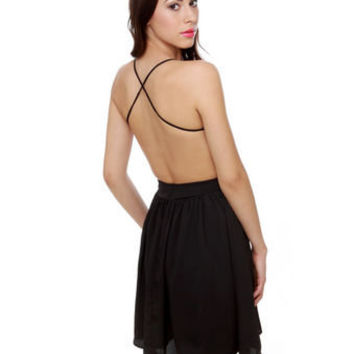 Sexy Black Dress - Backless Dress - $46.00