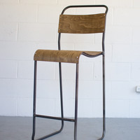 School House Barstool with Molded Plywood Seat