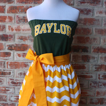 Baylor Bears Game Day Strapless Dress - Size Small