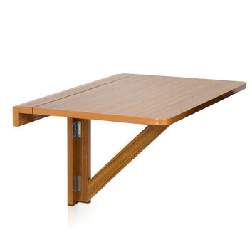 Wall-Mounted Drop-Leaf Wooden Folding Table by Furinno