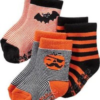 Halloween Sock 3-Packs for Baby