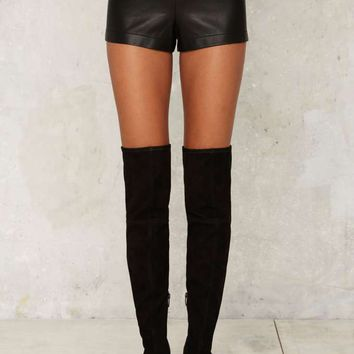 Nasty Gal Love the Nightlife Vegan Leather Shorts
