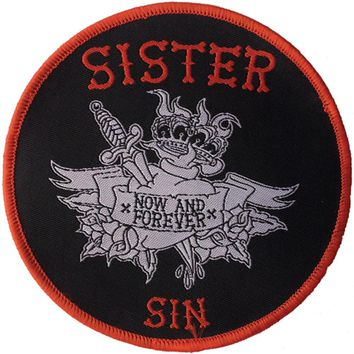 Sister Sin Men's Tattoo Embroidered Patch Black
