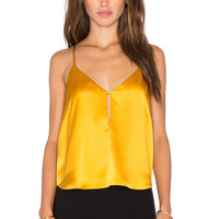 Mason by Michelle Mason Front Slit Cami in Mango