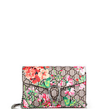 Gucci - Dionysus Geranium-Print Coated Canvas Chain-Strap Wallet - Saks Fifth Avenue Mobile