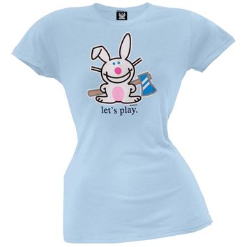 Happy Bunny - Let's Play Juniors T-Shirt