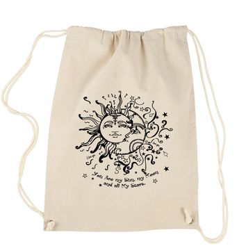 You Are My Sun, My Moon, My Stars Drawstring Backpack