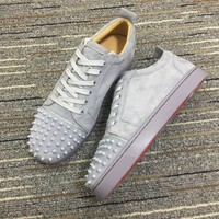 Christian Louboutin Cl Louis Junior Spikes Sneakers Reference 1 - Best Online Sale