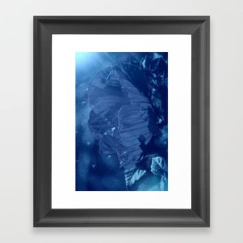 Where Blue Faeries Go Framed Art Print by Theresa Campbell D'August Art