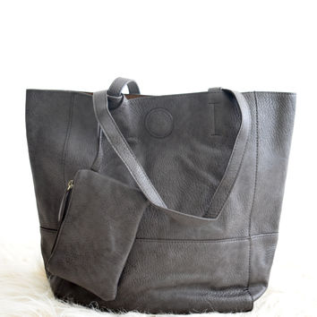 Uptown Tote In Charcoal