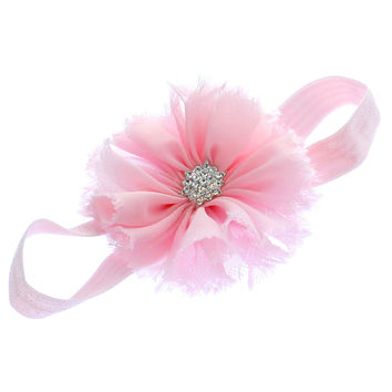 Girls Frayed Ballerina Flower Headband