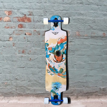 Gravity Double Drop Chi Longboard Cruise and Carve 41 inch - Complete