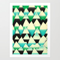 Ice Mountains Art Print by Amelia Senville