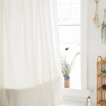 Magical Thinking Pompom Shower Curtain | Urban Outfitters