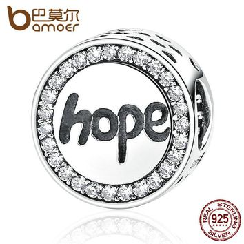 "Real 925 Sterling Silver ""Hope"" Letter Alphabet Charm Charms Fit Bracelets & Necklaces For Women Fashion Jewelry SCC088"