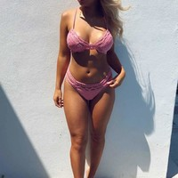 PREORDER: Play In The Waves Bikini Top: Coral Pink